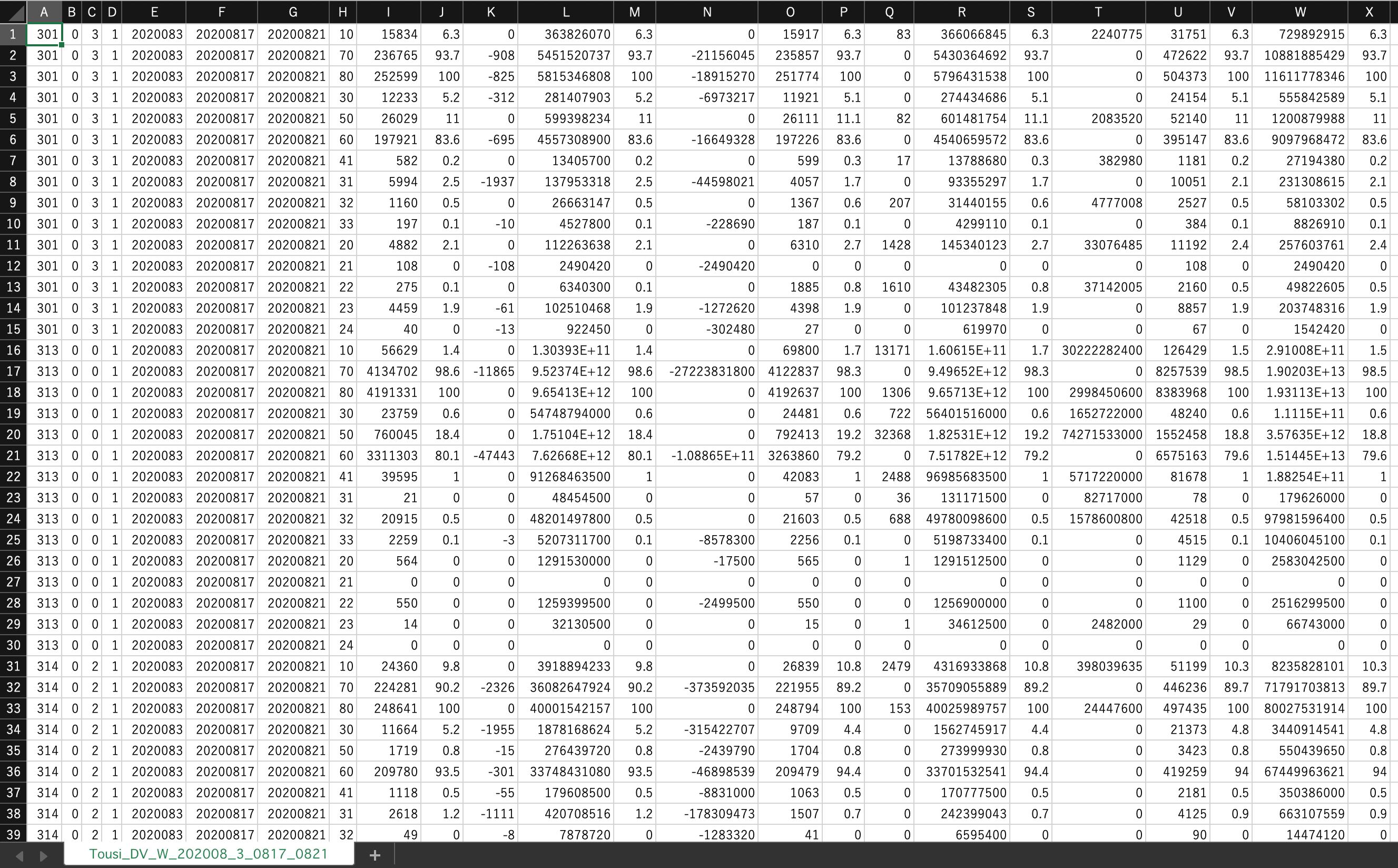 投資部門別取引状況エクセル